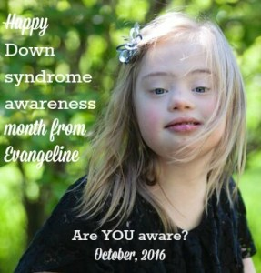 Evangeline Down syndrome awareness